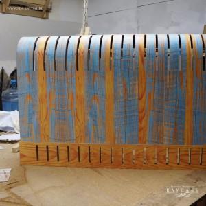 Готовый деревянный экран для радиаторов.