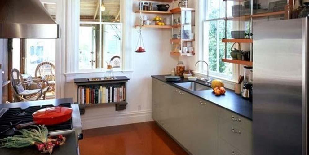 Как визуально сделать маленькую кухню больше