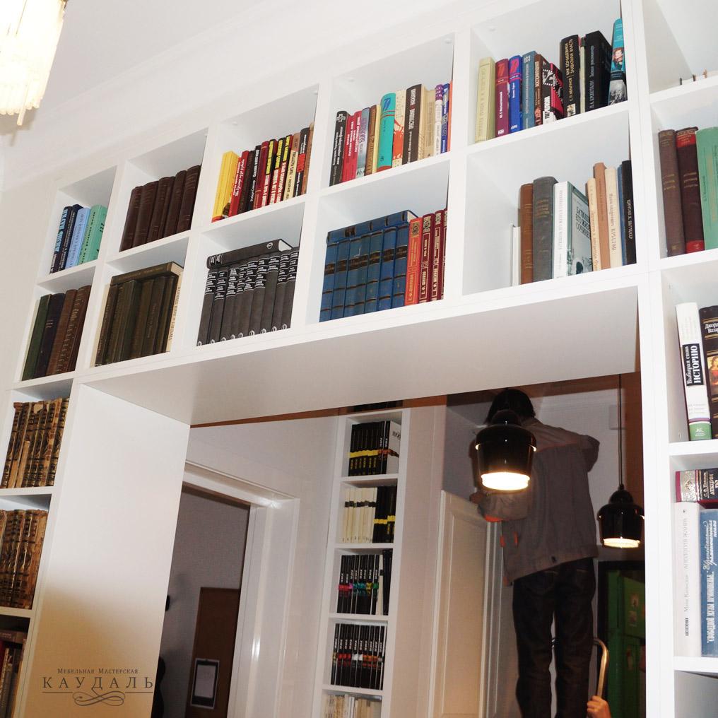 Стеллаж в дверном проеме - современная мебель
