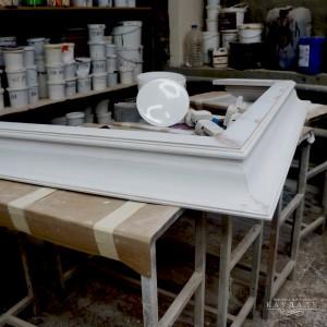 Покраска кухни белой эмалью в мастерской