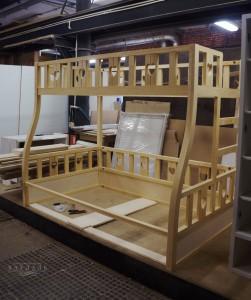 Сборка детской двухъярусной кровати на заказ