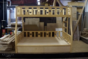 Детская кровать на заказ. 2 яруса