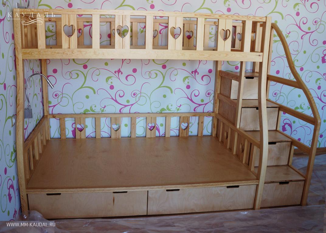 Заказать кровать детскую двухъярусную