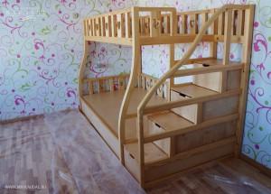 Кровать 2 яруса по индивидуальным размерам в Москве