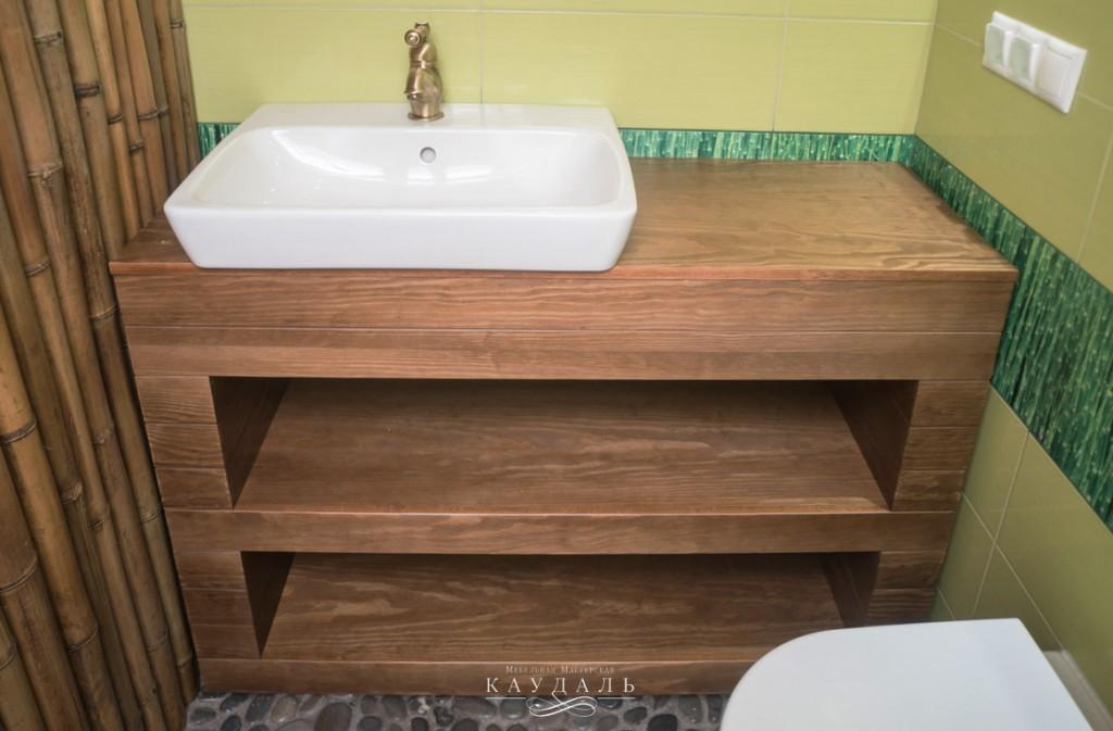 Тумбочка на заказ под раковину в ванную