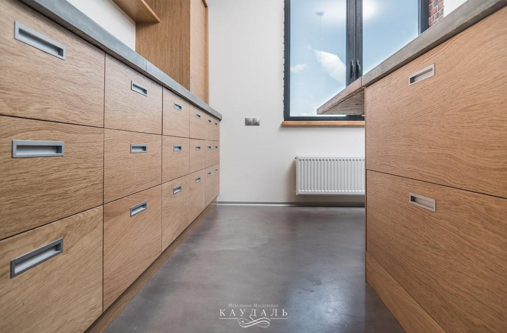 Лофт бетон и кирпич кухня фото