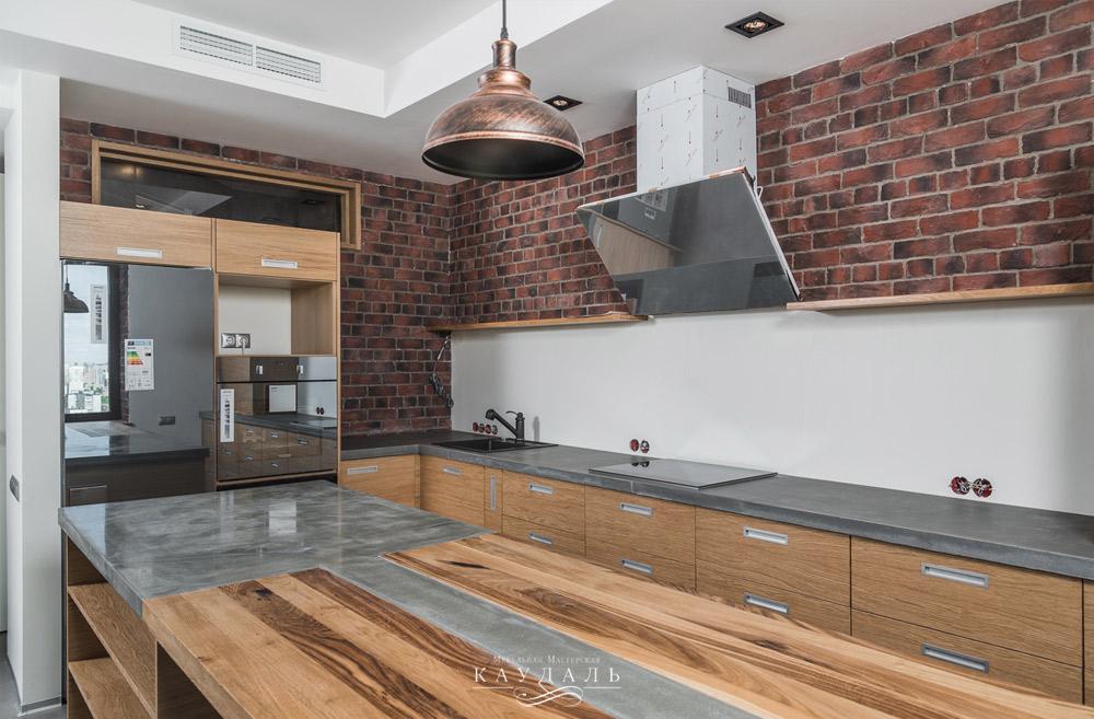 Дизайн кухни в стиле лофт