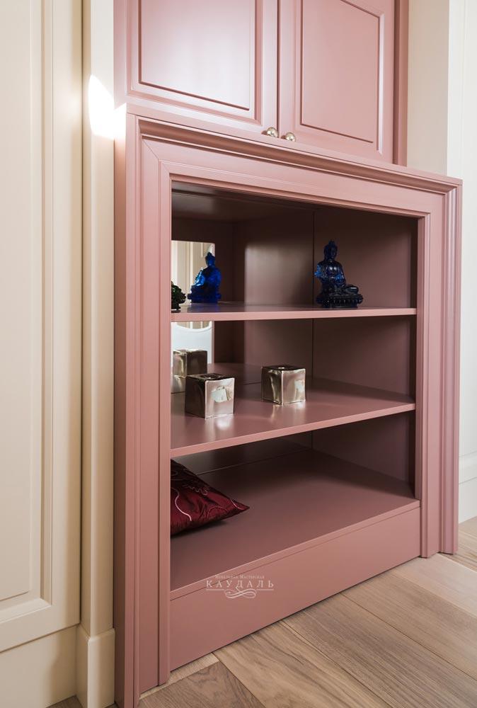 Шкаф розовый на заказ в Москве