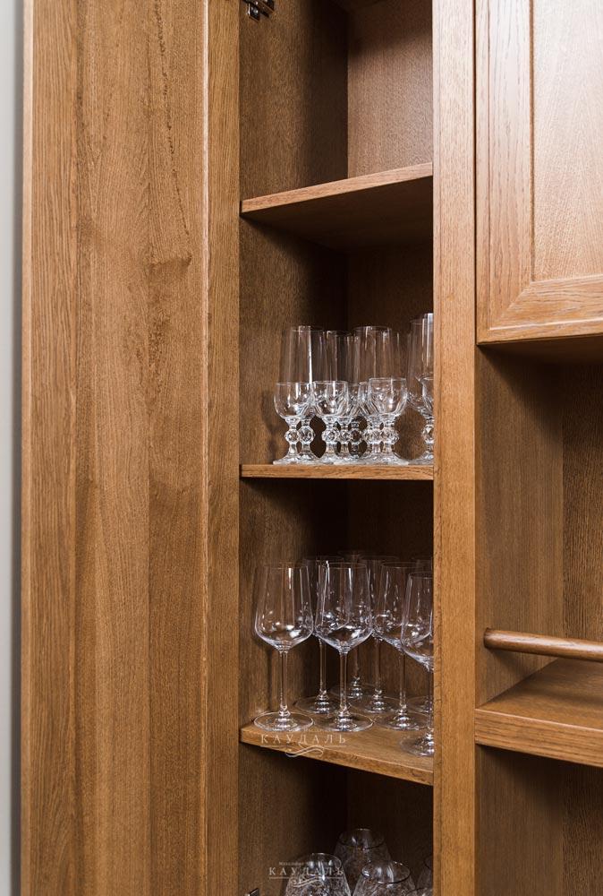 Шкаф для хранения посуды на заказ по индивидуальным размерам