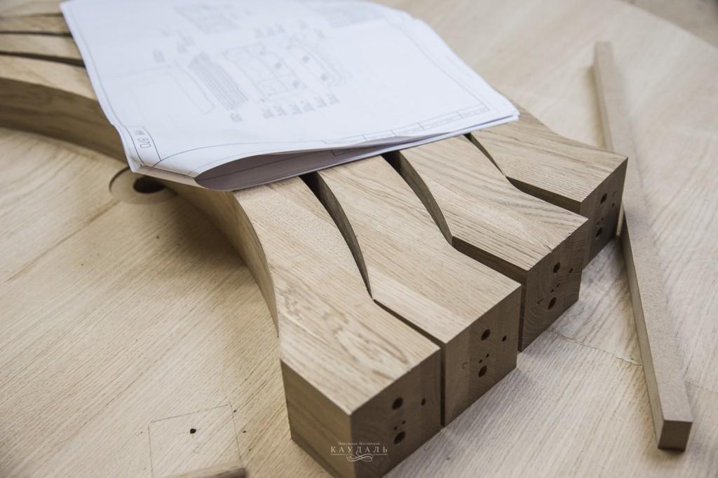 Ножки для круглого стола из массива дуба