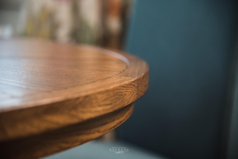 Царга круглого стола из массива дуба