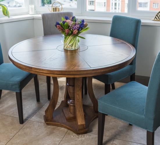 Круглый обеденный стол для кухни
